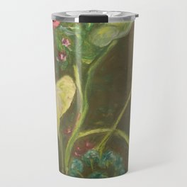 Lilly and Camelia pastel painting Travel Mug
