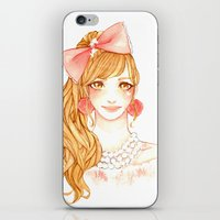 girly iPhone & iPod Skins featuring Girly by ilovevanilla