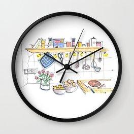 cozy kitchen in Berlin Wall Clock