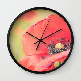 Poppies Will Make You Sleep Wall Clock