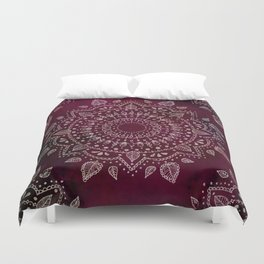 Wine Mandala Duvet Cover