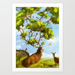 The Forest of Songs Art Print