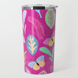 Flower and Butterfly Travel Mug