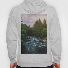 PNW River Run II - Pacific Northwest Nature Photography Hoody