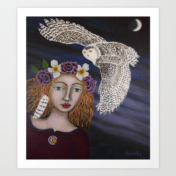"""OWL WOMAN"" Art Print"