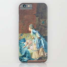 Jehan Georges Vibert - The First Babe - Digital Remastered Edition iPhone Case