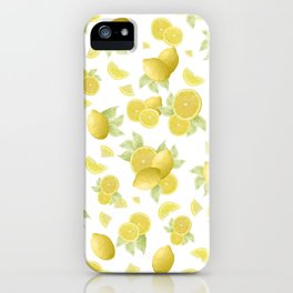 Summer Lemon Twist #1 #tropical #fruit #decor #art #society6 iPhone Case