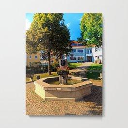 The village fountain of Eidenberg Metal Print