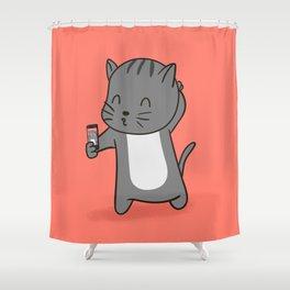 Selfie Kitty Shower Curtain