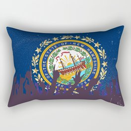 New Hampshire State Flag with Audience Rectangular Pillow