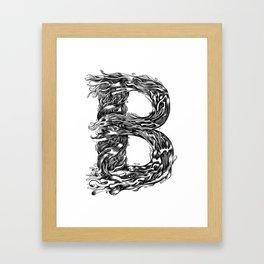 The Illustrated B Framed Art Print