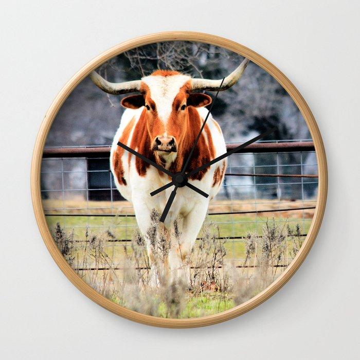 Texas Longhorn Morning Wall Clock