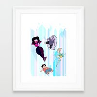 steven universe Framed Art Prints featuring Steven Universe by EclecticMayhem