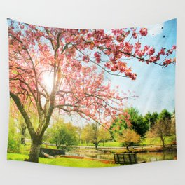 Peaceful Spring Wall Tapestry