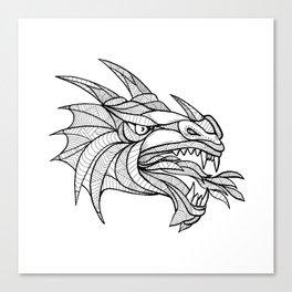 Dragon Head Zentagle Canvas Print