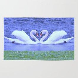 Swans in Love-light Rug