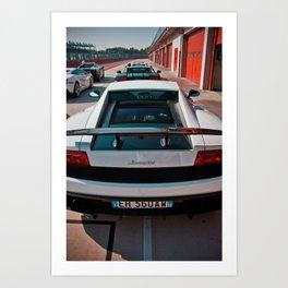 Lamborghini test drive Art Print
