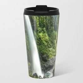 Looking Out From Under North Falls Travel Mug