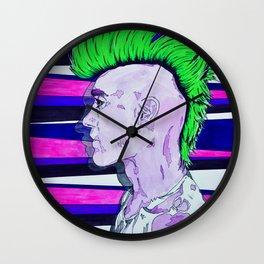 Neon Rock God Wall Clock