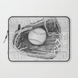 Softball (black and white) Laptop Sleeve
