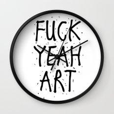 F*CK YEAH ART Wall Clock