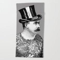Tattooed Victorian Man Beach Towel
