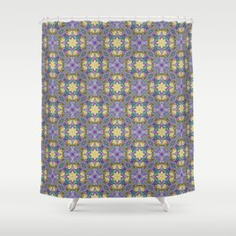 Pattern 24 lilac-yellow Shower Curtain