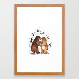 Bear Dance Framed Art Print