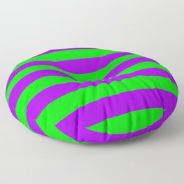 Green and Purple Stripes Floor Pillow