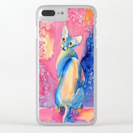 Sphynx Cat 3 Clear iPhone Case