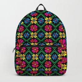 Mexican Floral Folk Art Backpack