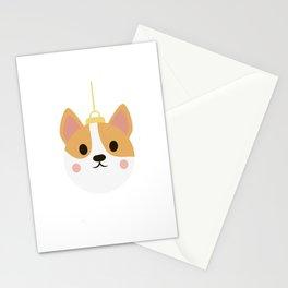 corgi christmas Stationery Cards