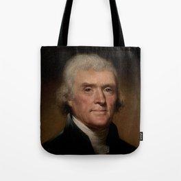 portrait of Thomas Jefferson by Rembrandt Peale Tote Bag