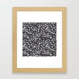 Aquatic I: White on Black Framed Art Print