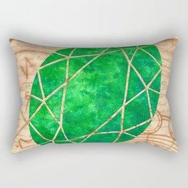 Magical Emerald - Illustration Gems Rectangular Pillow