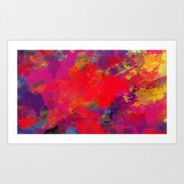Abstack Hot Color Art Print