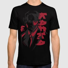 Kafka portrait in Red & Black T-shirt