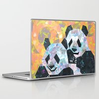 pandas Laptop & iPad Skins featuring Pandas by DanielleArt&Design