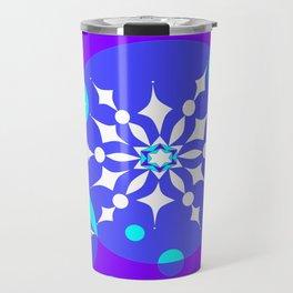 A Winter Snowy Design with Pretty Snowflakes Travel Mug