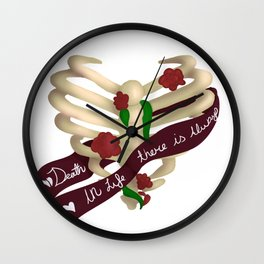 In Life There Is Always Death Wall Clock
