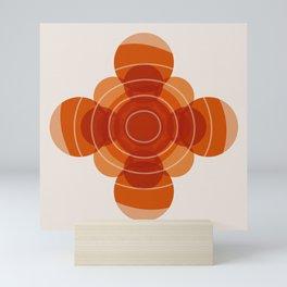 Earthy Red Scandinavian Floral Design Mini Art Print