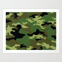 camo Art Prints featuring Camo by anhnt32