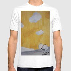 Plant with Yellow Sky White MEDIUM Mens Fitted Tee