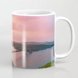 Sherbert Skies over the Golden Gate Bridge from Slackerhill Coffee Mug