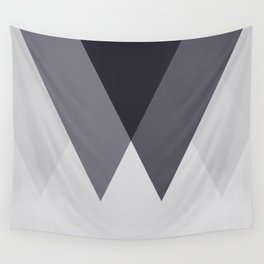 Sawtooth Blue Grey Wall Tapestry