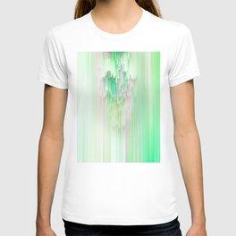 Abstract Cascade Glitch 1.Green T-shirt