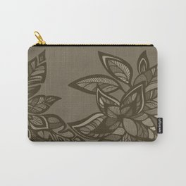 Let Love Grow - Cocoa Carry-All Pouch