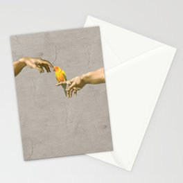 Scritching a sun conure Stationery Cards