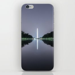 Washington Memorial from the Lincoln Memorial No. 1 iPhone Skin