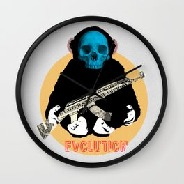 Evolution - (The MonkeyMan & The Gun) Wall Clock